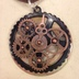 Clock Hand/Gear Necklace