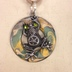 Frog on Disc Necklace