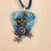 Frog on Blue Guitar Pick Neclace