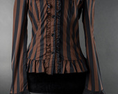 Steampunk-striped-cravat-blouse