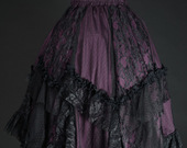Purple-ruffle-skirt