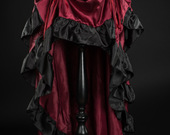 Red-satin-layer-bustle-skirt-2