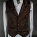 Brown Brocade Vest