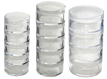 Monda Studio Stackable Powder Jar- Clear