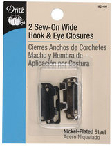 Dritz Wide Hooks and Eyes by Manhattan Wardrobe Supply