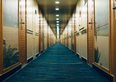 Cabins hallway