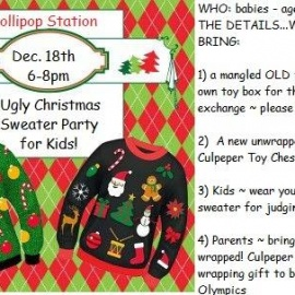 Kid's UGLY Christmas Sweater Party! (Free)