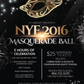 New Years Eve 2016 RVA Masquerade Ball