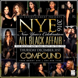 Compound Annual All Black Affair New Year's Eve