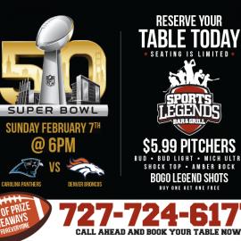 Sports Legends Super Bowl Sunday
