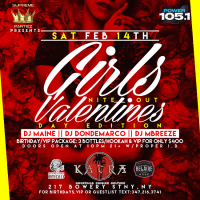 GIRLS NITE OUT VALENTINES DAY EDITION AT KATRA NYC SAT FEB 14TH