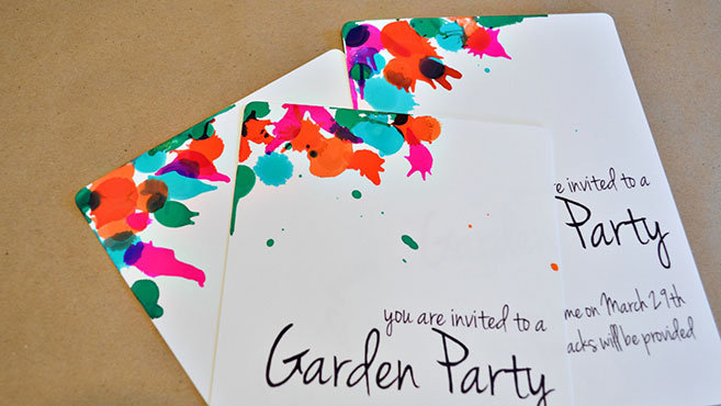 Color Splash Invitation