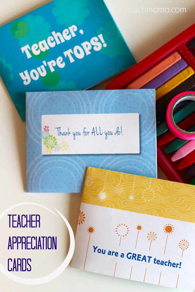 teacher appreciation cards teachmama.com