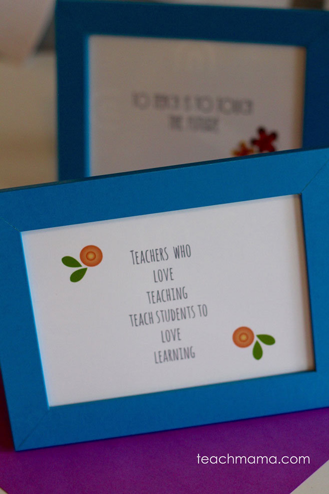 Teacher Appreciation Gift - Framed Quotes