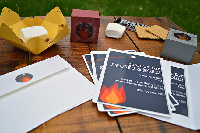 Bonfire Party Invitation and Favors MyPrintly