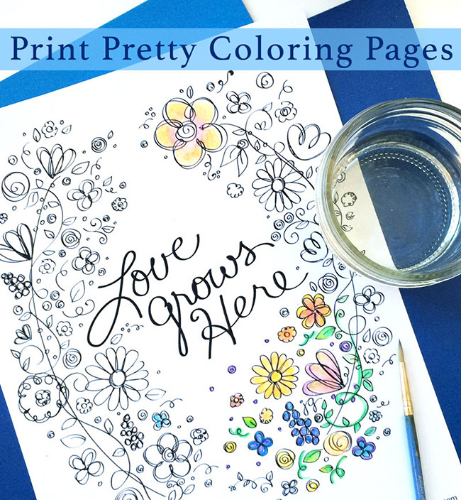 Pretty Printable Coloring Pages