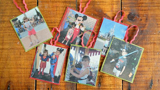Glittering Photo Ornaments