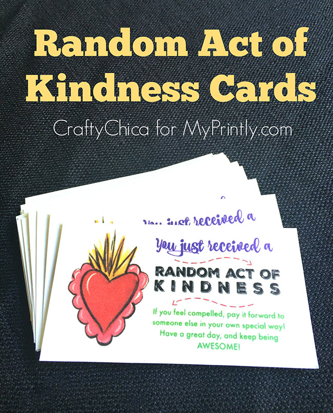 This is a graphic of Bewitching Kindness Cards Printable