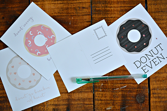DIY Donut Postcards