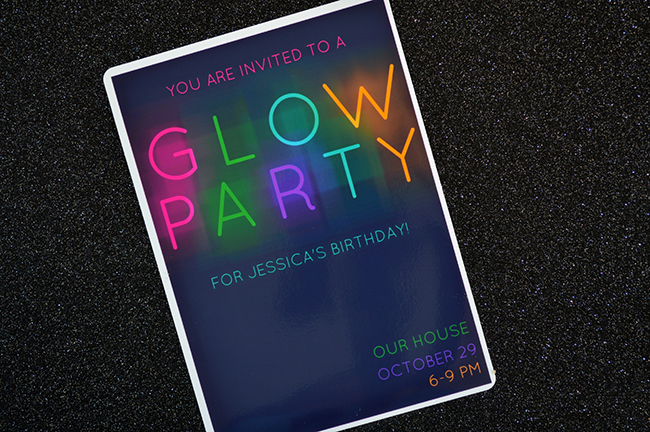 Glow in the Dark Party Invitations MyPrintly – Glow Party Invite