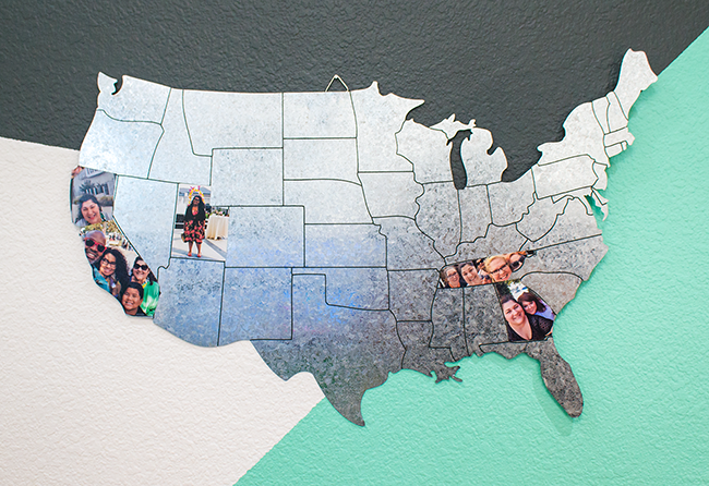 DIY Magnetic Travel Map MyPrintly - Us magnetic travel map