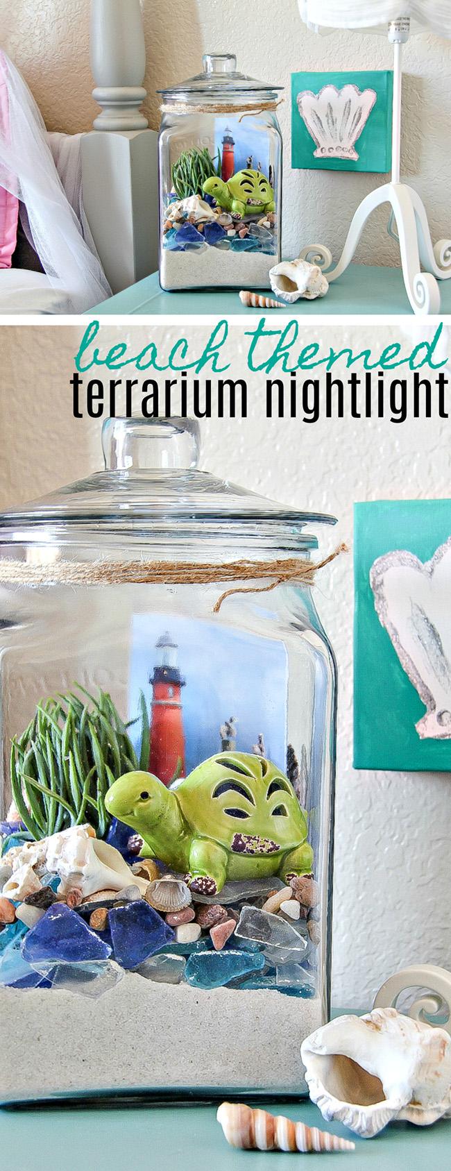 Beach Themed Terrarium Nightlight