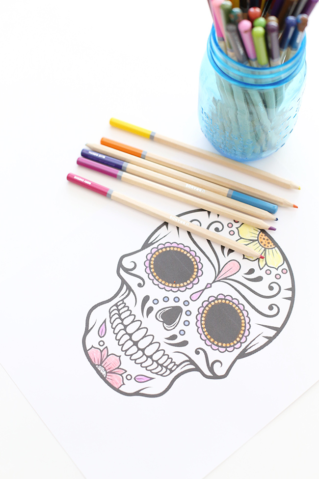 how to make sugar skulls out of paper