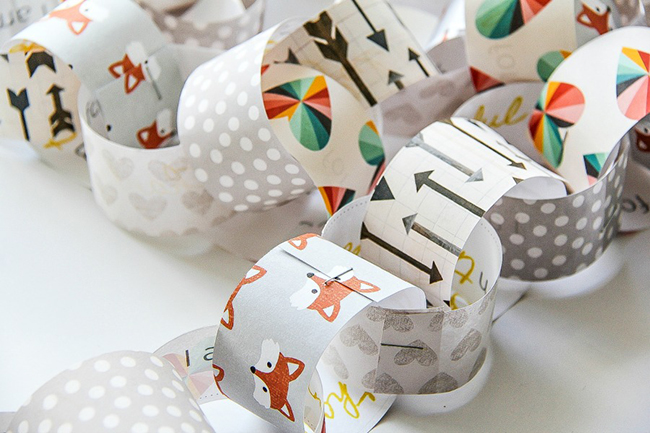 DIY Thanksgiving Paper Chain Garland