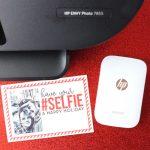 DIY Printable Holiday Selfie Card
