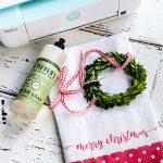 Easy Iron-On Christmas Dishtowel Gift Craft