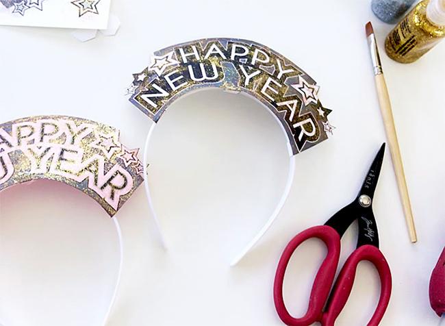 DIY New Year Headbands