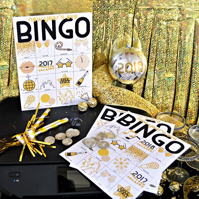DIY New Years Eve Bingo Cards