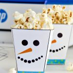 Printable Snowman Treat Cups Craft