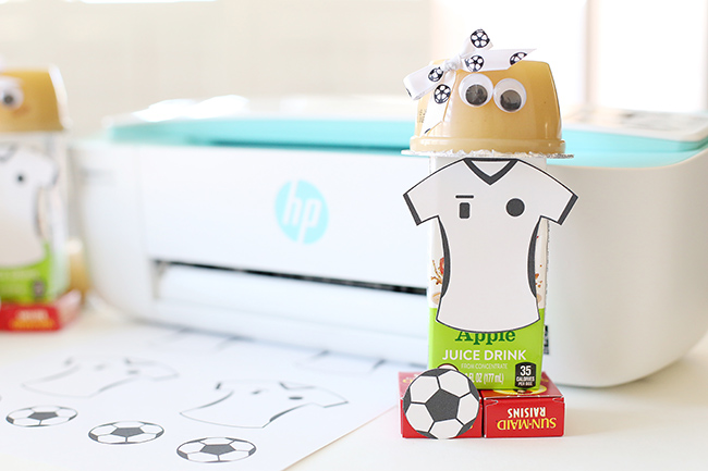 easy soccer snack craft myprintly soccer valentine box