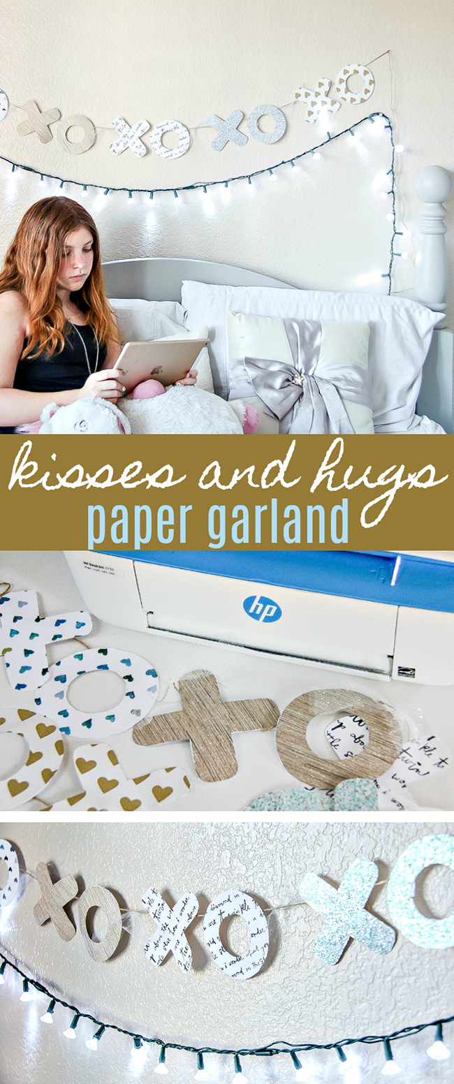 DIY Handmade Kisses and Hugs Garland