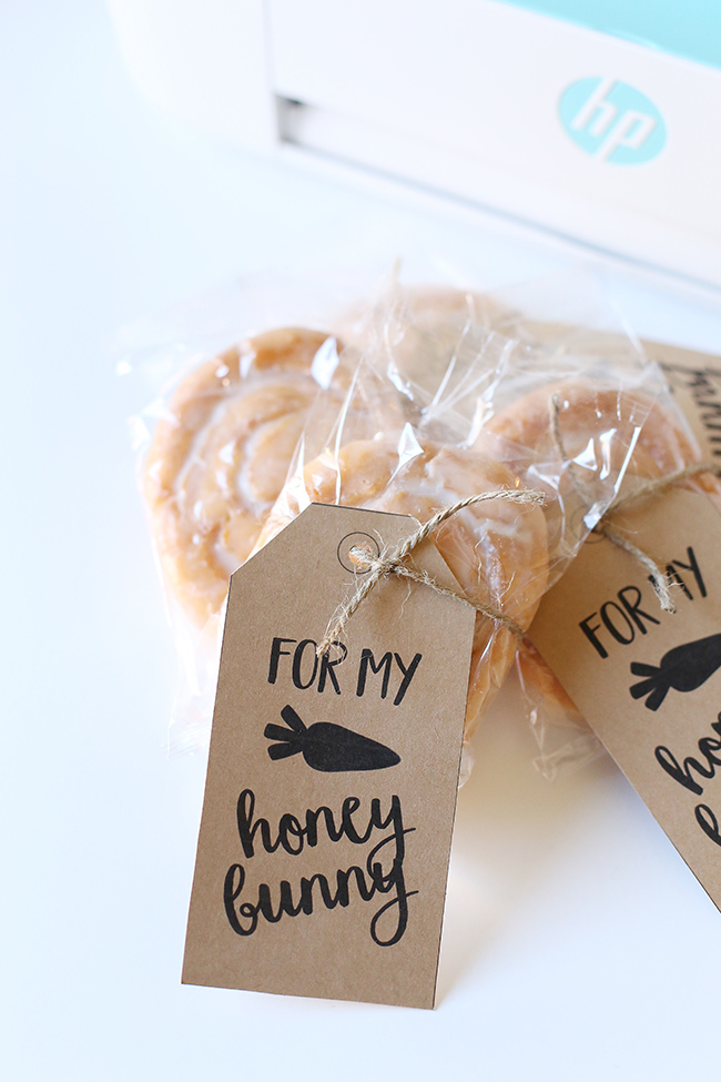 Diy honey bunny easter gift tags myprintly negle Choice Image