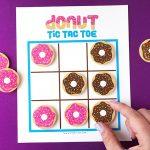 DIY Donut Tic Tac Toe Game