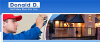 Website for Donald D Holliday Electric, Inc.