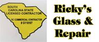 Website for Ricky's Glass & Repair, LLC