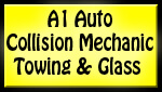 Website for A1 Auto Collision Mechanic Towing & Glass