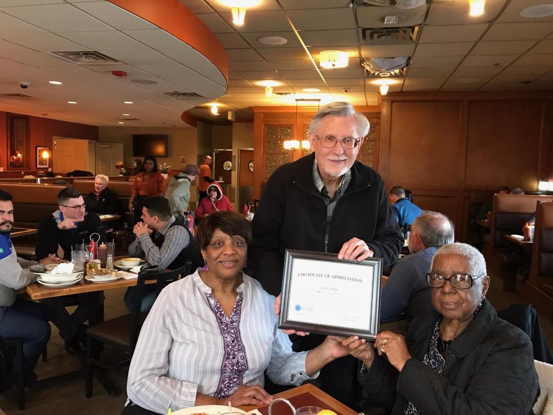 Certificate of Appreciation Kay Jones
