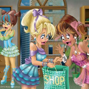 Shopping girls office