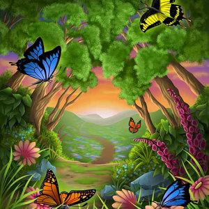 Lg illus butterflies