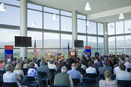 gould zinke perdue at boise state university event
