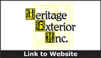 Website for Heritage Exterior, Inc.