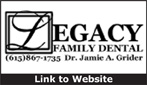 Website for Legacy Family Dental, PC