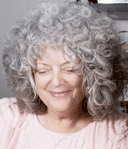 Michele - 3a, Mature hair, Medium hair styles, Readers, Female, Curly hair, Gray hair hairstyle picture