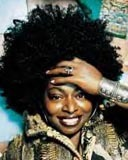 Angie Stone - Brunette, 4a, Celebrities, Medium hair styles, Kinky hair, Afro, Female, Black hair, Adult hair hairstyle picture
