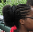 braids puff - Kinky hair