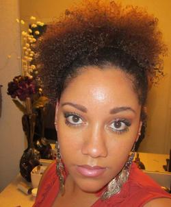 Curly Puff - 4a, Celebrities, Short hair styles, Medium hair styles, Twist hairstyles, Afro, Readers, Teen hair, Makeovers, Black hair, Adult hair, Prom hairstyles, Formal hairstyles, Homecoming hairstyles, Afro puff, Teeny weeny afro, Ponytail, Twist out hairstyle picture